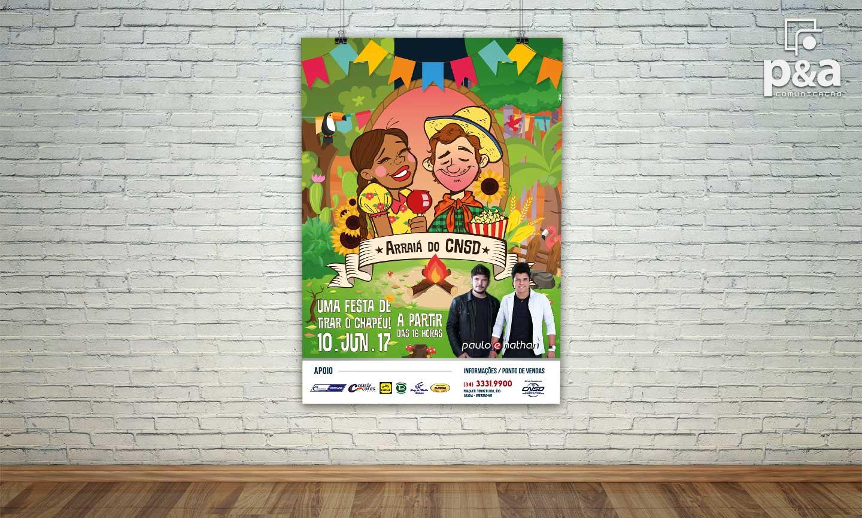 Cartaz Festa Junina CNSD