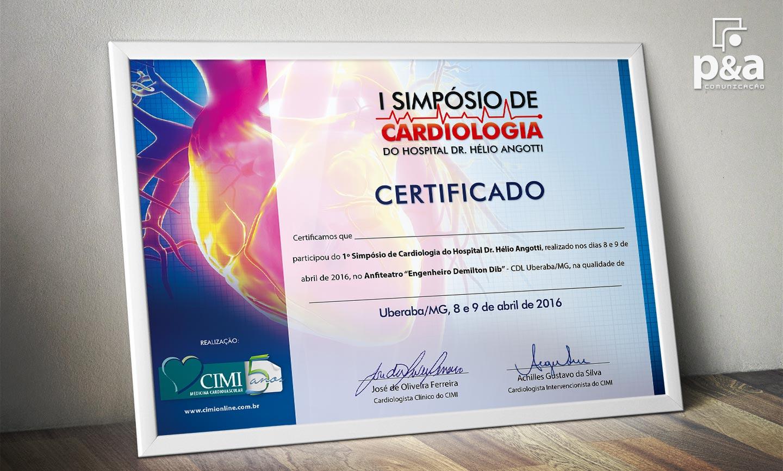 Certificado - Simposio de Cardiologia CIMI