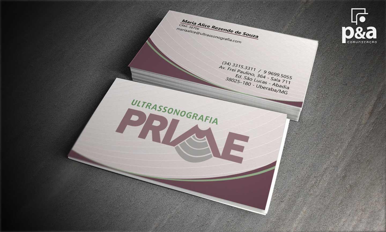 Cartão de Visita Ultrassonografia Prime